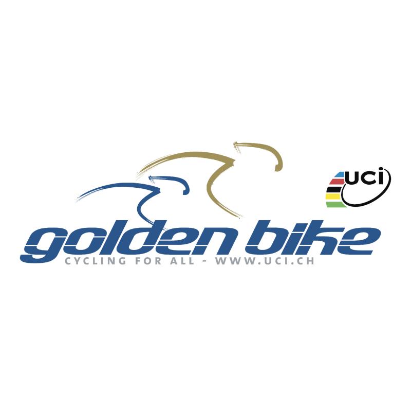 Golden Bike vector logo