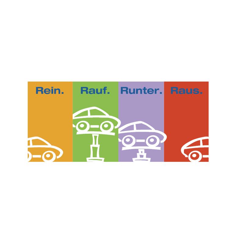 Rein Rauf Runter Raus vector