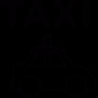 Taxi transportation vector