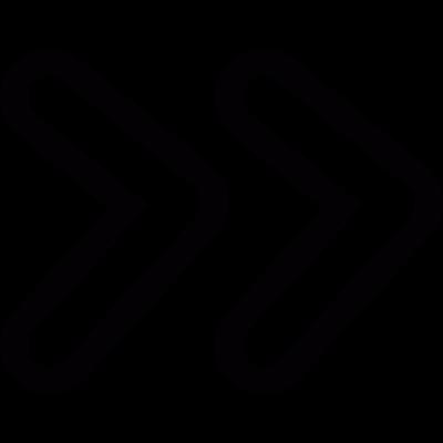 Fast foward arrows vector logo