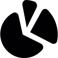 Pie chart partition vector
