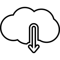 Download from cloud computing vector