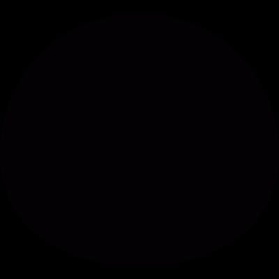 Black oval vector logo