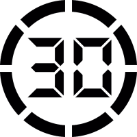 Digital display 30 vector