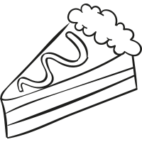 Cake Piece with Cream vector