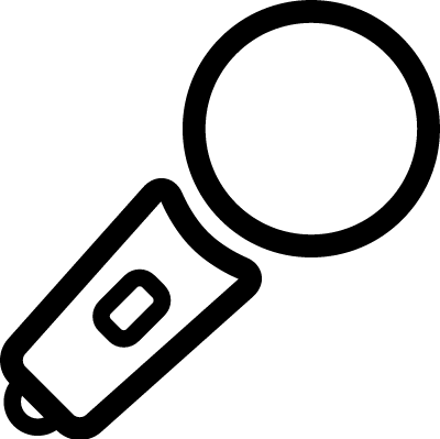 Karaoke Microphone vector logo