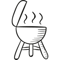 Barbecue with Cover vector