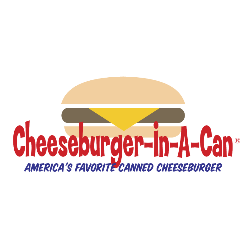 Cheeseburger In A Can vector