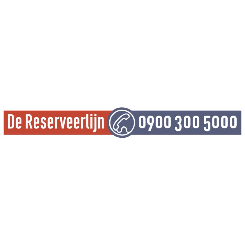 De Reserveerlijn vector
