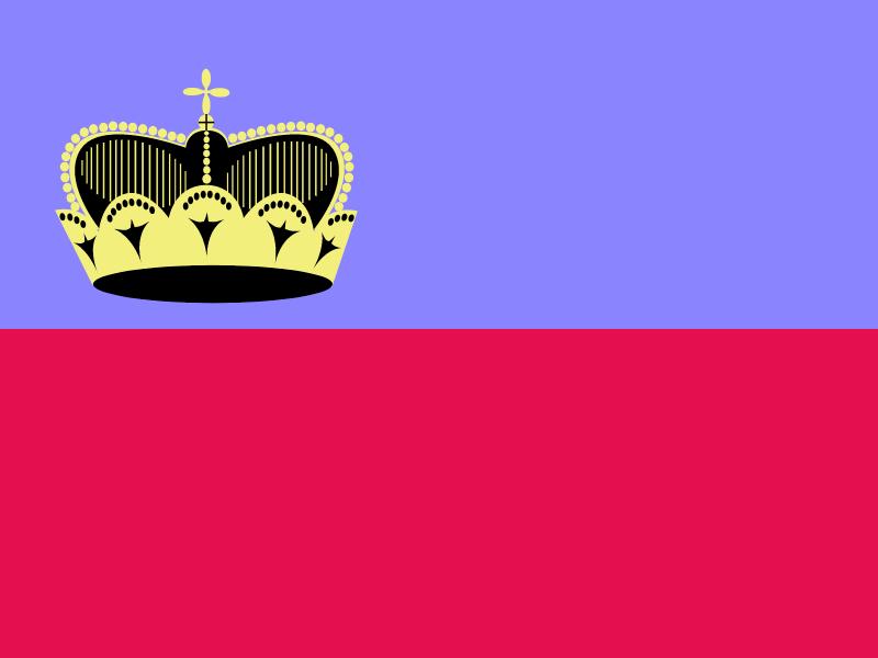 Flag of Liechtenstein vector