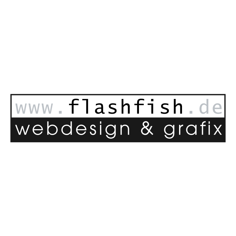 flashfish webdesign vector logo