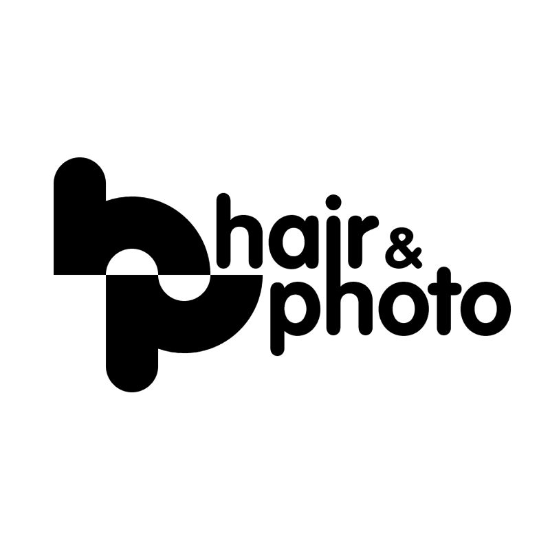 hair & photo vector logo