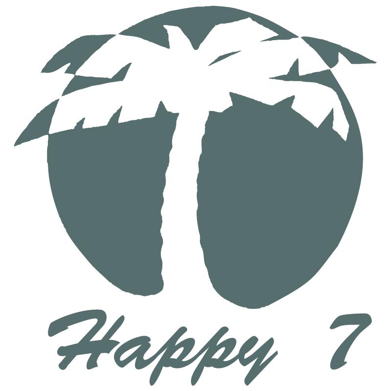 Happy 7 vector