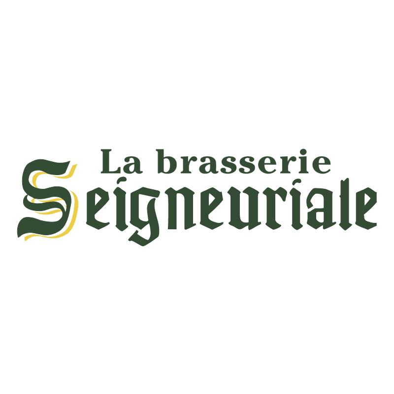 La Brasserie Seigneuriale vector