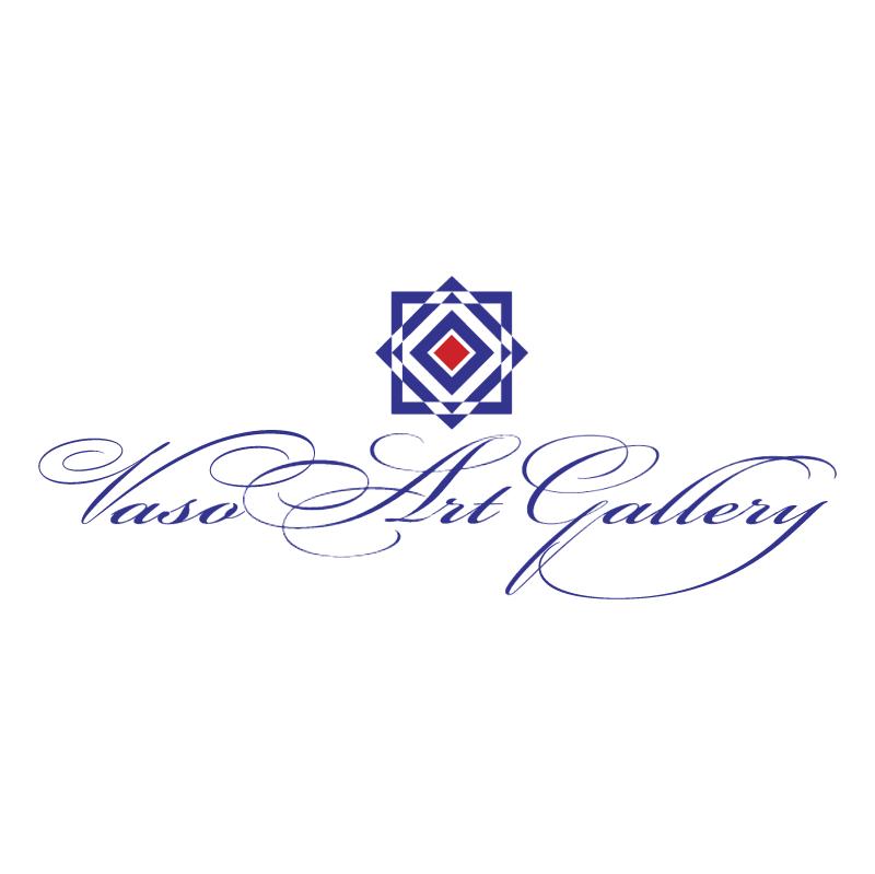 Vaso Art Gallery vector logo