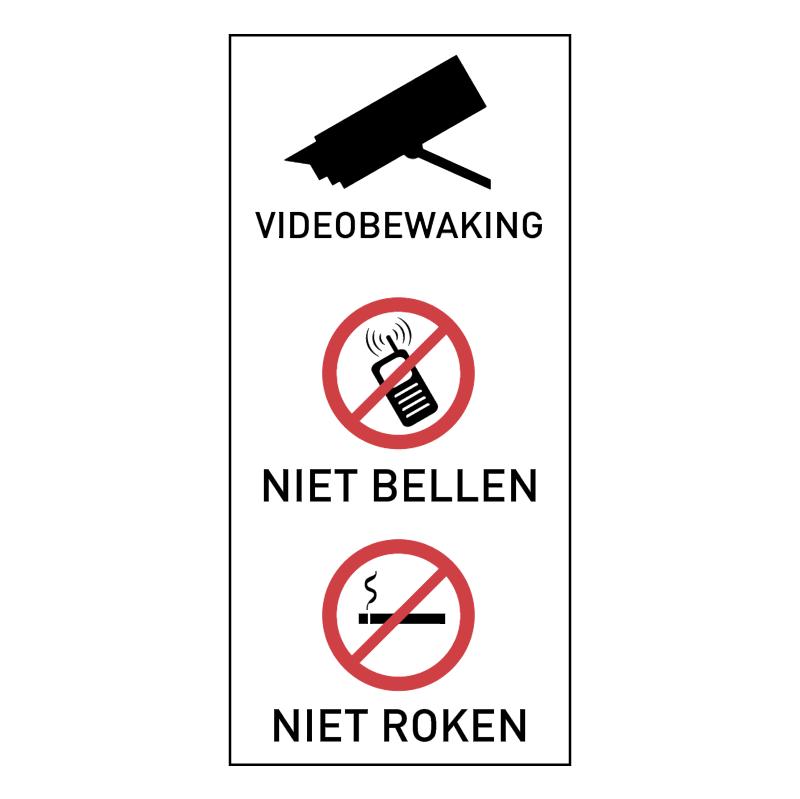 Videobewaking Niet Bellen Niet Roken vector