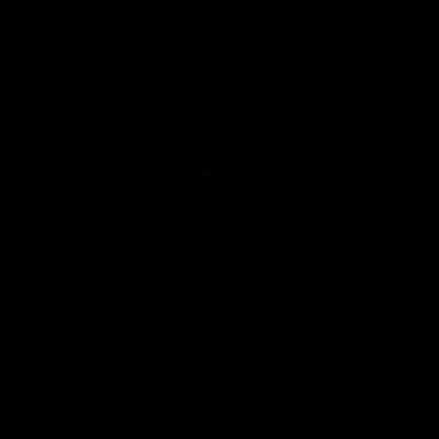 Bars graphic, tower, IOS 7 interface symbol vector logo