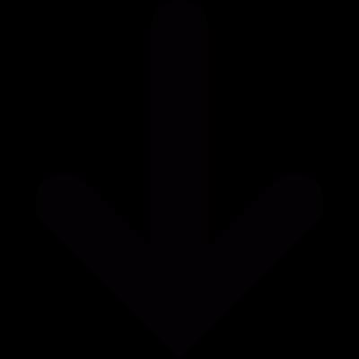 Down arrow vector logo