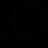 Interlocking rings vector