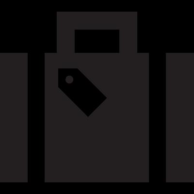 Holiday suitcase vector logo