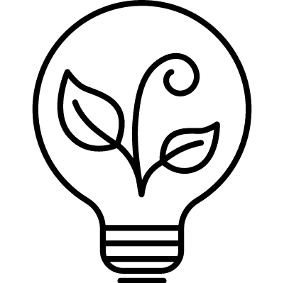 Ecological Light Bulb vector logo