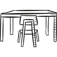 Desk with Chair vector