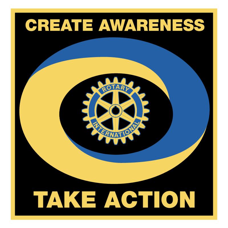Create Awareness Take Action vector logo