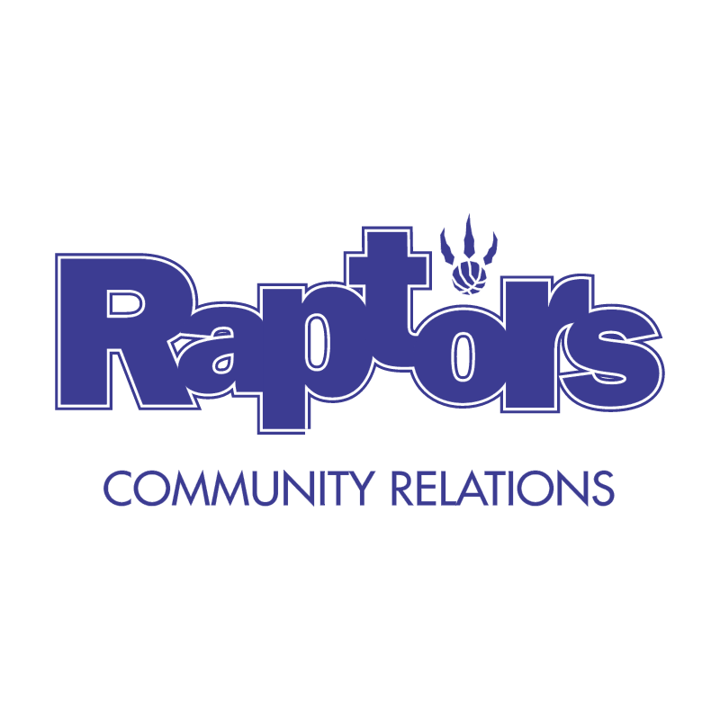 Raptors Community Relations vector