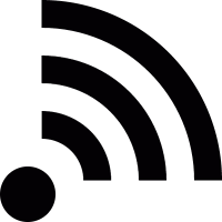 RSS feed reader logo vector