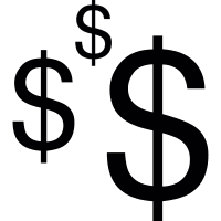 Three Dollar symbols vector