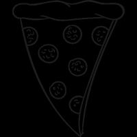 Pepperoni Pizza Slice vector