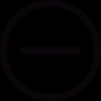 Minus Button vector