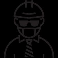 Foreman with Helmet vector