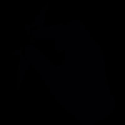 Hand gestures reducing size vector logo