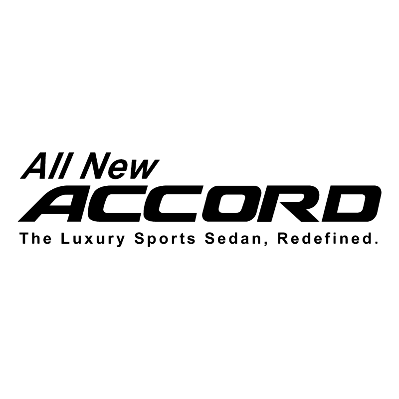 All New Accord 85802 vector