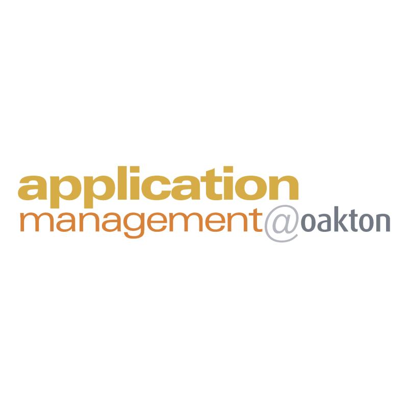 Application Management oakton vector