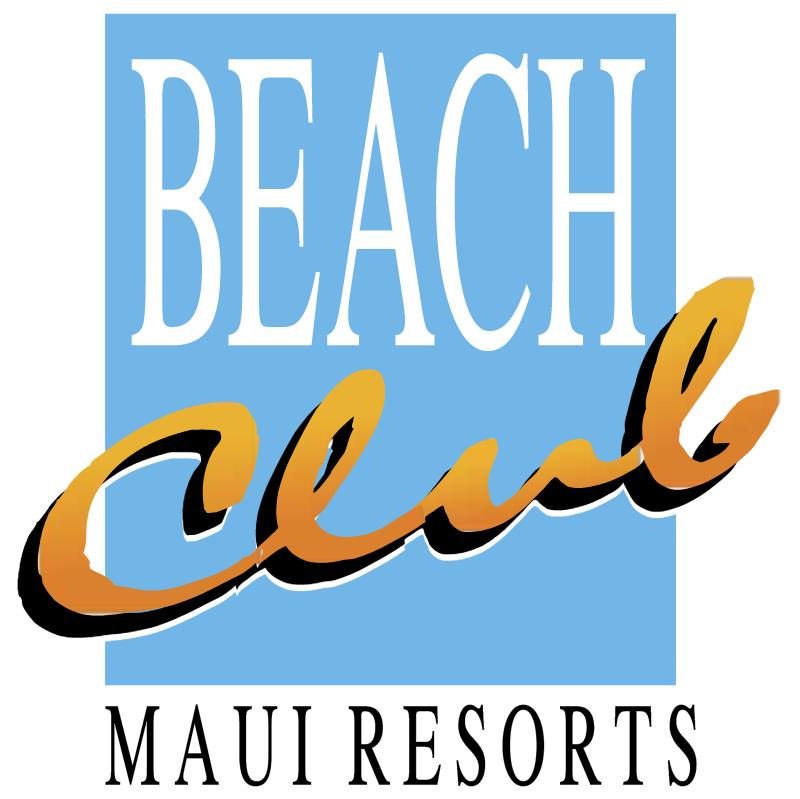 Beach Club Maui Resorts 846 vector