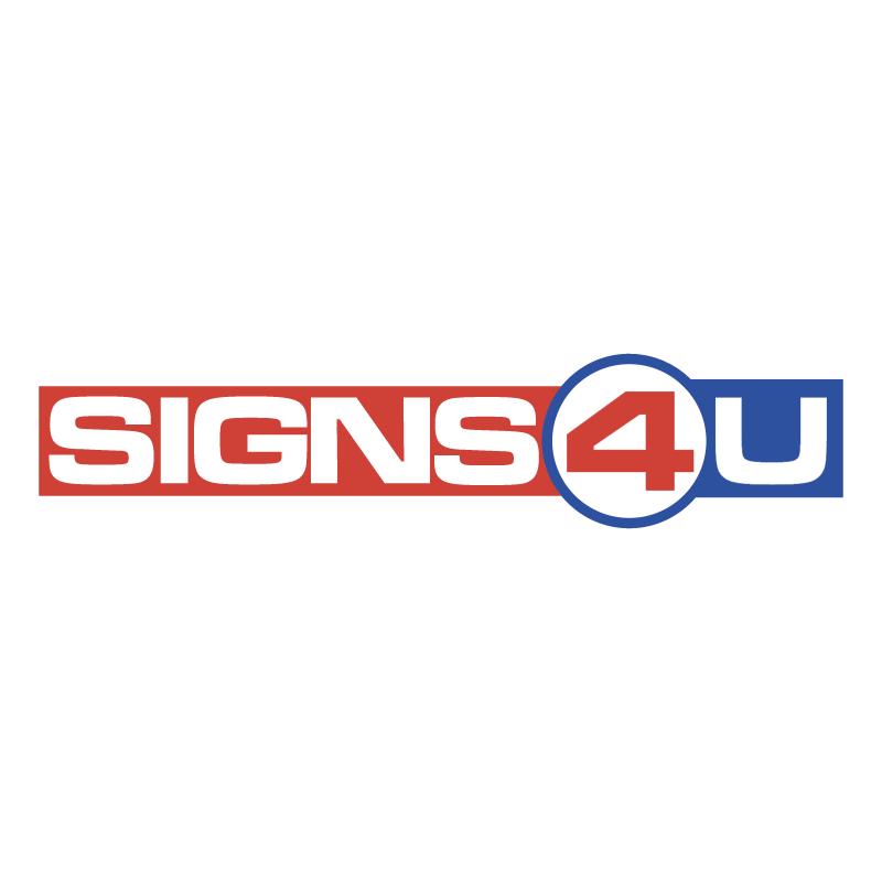 Signs 4 U B V vector logo