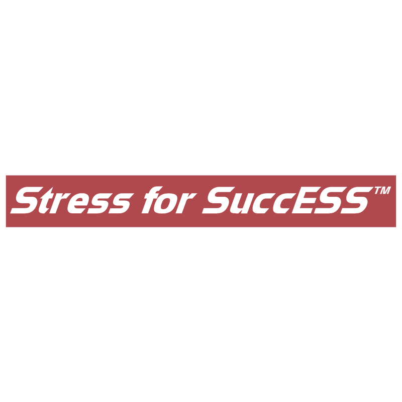 Stress for SuccESS vector logo
