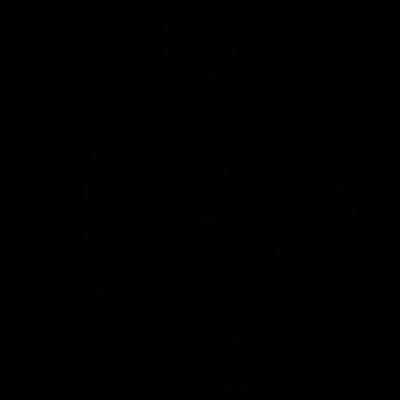 Worker Running vector logo