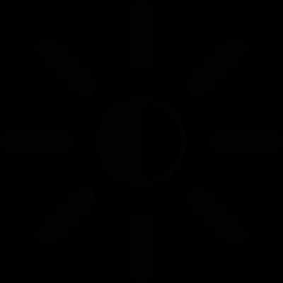 Brightness setting vector logo