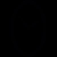 Oval clock vector