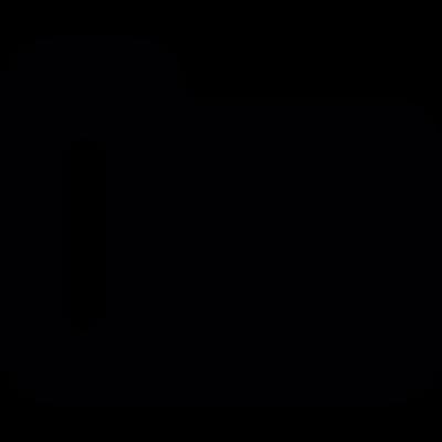 Black folder symbol vector logo