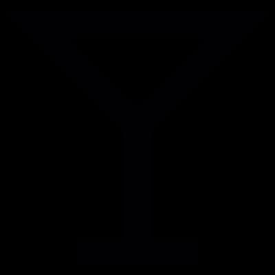 Wine glass shape, IOS 7 interface symbol vector logo