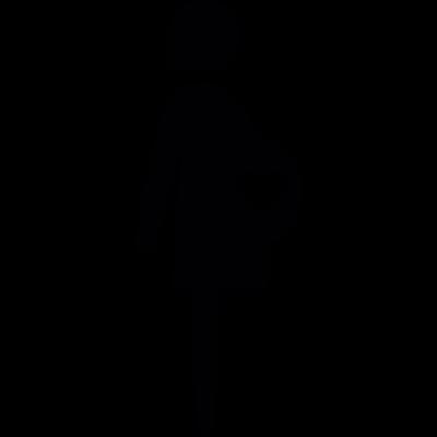 Pregnant woman vector logo