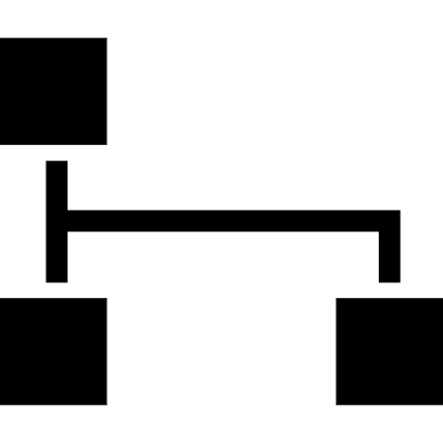 Black squares and lines in a graphic of interface vector logo