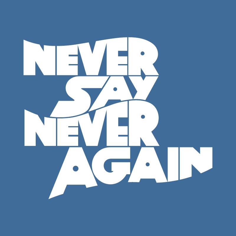 Never Say Never Again vector