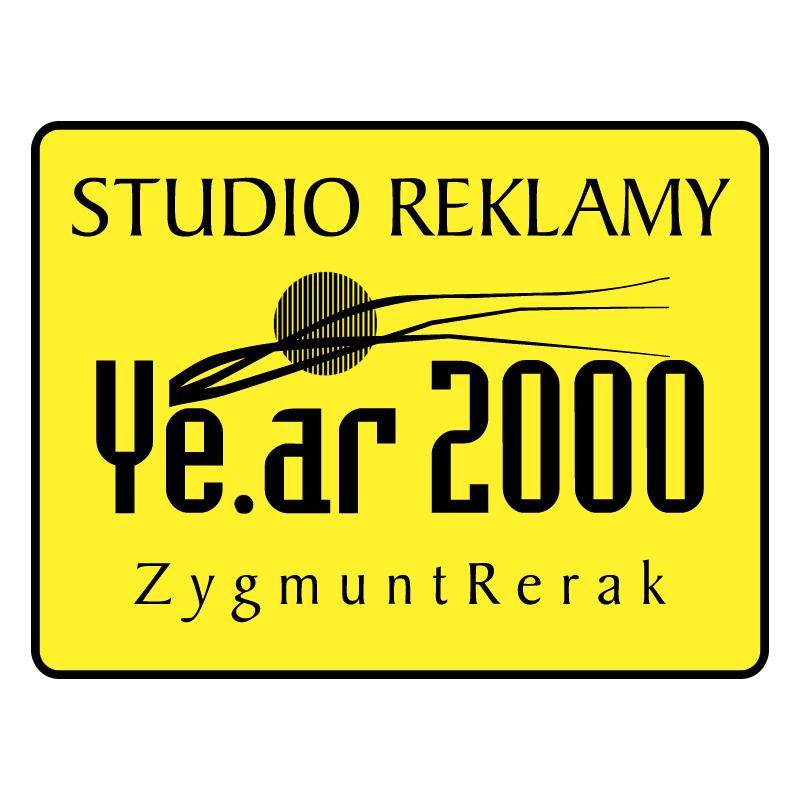 Studio Reklamy Ye ar 2000 vector