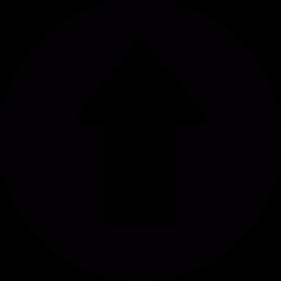Upload arrow in a circle vector logo