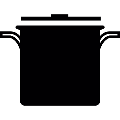 Kitchen pot vector logo